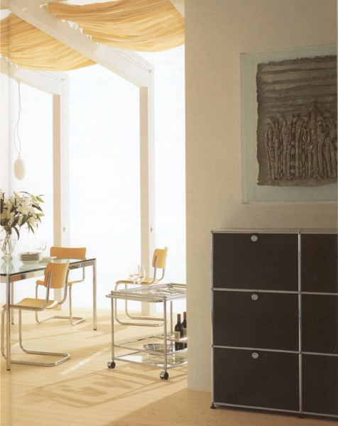servierwagen usm haller stoll online shop. Black Bedroom Furniture Sets. Home Design Ideas